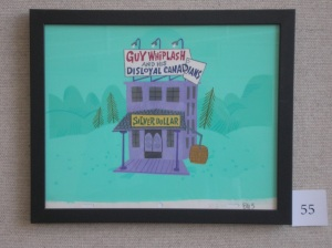 "Guy Whiplash's place. Used in the first Dudley Do-Right episode, ""The Disloyal Canadians."" (Sam Clayberger artist)"