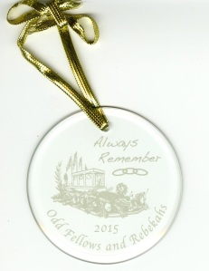 This is the holiday ornament the parade committee created.