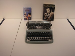 Glen Ford's typewriter. He's a great actor. He's never been bad in any movie I've seen him in.