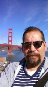 I'm not into selfies but I did take one of myself at the Golden Gate Bridge.