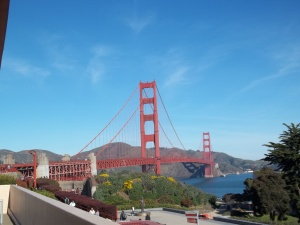 Uh, it's the Golden Gate Bridge.