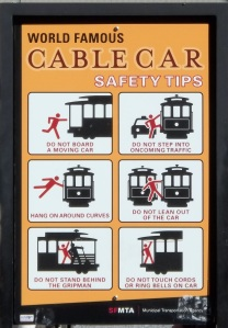 Cable Car safety tips.