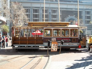 We went downtown to take a Cable Car. We wanted to get on the Powell/Hayden line because it went the furthest.