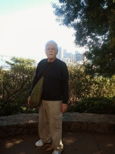 Here's a picture of Bob at Coit Tower. Bob is my number one picture taker.