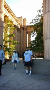 That's me, Guillermo Luna, at the Palace of Fine Arts.