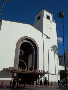 I left from Union Station in Los Angeles. Consensus pretty much says this is the last great train station built in the United States. I agree.