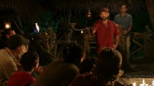 "One of the best things at the exhibit was a huge television that played the best of Survivor clips. It went on forever. The time when Russell played his idol for Parvatti and then it came down to a vote between him and Tyson and Tyson was evicted; When Brenda demanded at the final tribal council that Dawn take her ""bridge"" out just to humiliate her. When Eliza played the fake idol given to her by Jason that Ozzy had made. (It was a stick with a face on it.)"
