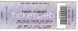 The Paley Center for Media also has a library.