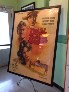 On the way to the second floor was this huge Duel in the Sun poster. The movie is over the top but it has Jennifer Jones who I've always liked and Lillian Gish too.