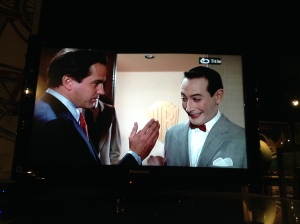 They were showing Pee Wee's Big Adventure.