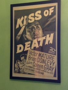 This Kiss of Death poster was across from Duel in the Sun. I don't know which on I like better.