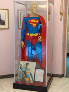 To the left of the entrance was this Superman costume. It looks so simple compared to Batman's costume.