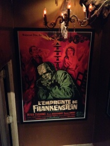 Wow! That is some poster. It was on the way downstairs to the horror section.
