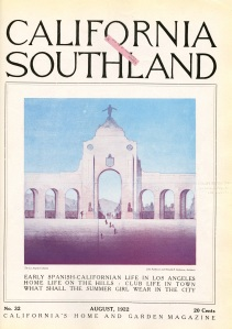 This is a very pretty image I found California Southland. This was before the coliseum was built.