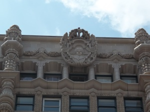This is the medallion at the very top in the center.