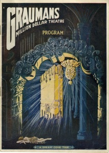 This is a Million Dollar Theater program from 1920 for another William S. Hart movie called The Toll Gate. I think it's very cool. I had never seen one before I bought it. That's the building floating within the proscenium.