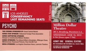 The Los Angeles Conservancy is responsible for a series called The Last Remaining Seats.