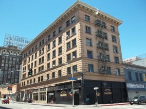 The King Edward Hotel at 5th and Los Angeles Street.