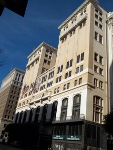 The building still stands on 7th street in Los Angeles.