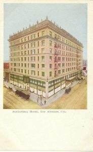 Here's the Alexandria Hotel on a post card.