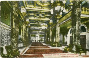 The lobby from a postcard.