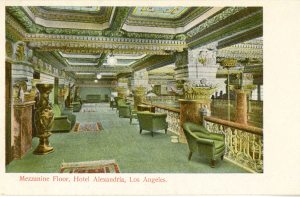 The mezzanine from a post card.