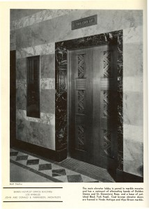 An Architectural Record photo of the elevator from 1932.