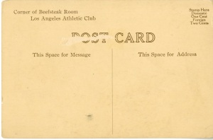 The back of the postcard.