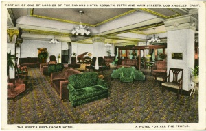 One of the lobbies. It looks like it's from the 1930s.