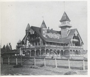 Before John Parkinson began building in Los Angeles he worked in Seattle. He formed a partnership with Cecil Evers for roughly two years. This is the Calkins Hotel. It was built in 1889-1890. This building has been destroyed but it is a Parkinson Evers building.