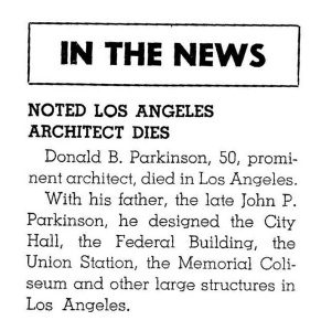 Donald's obit from Architect and Engineer, January 1946. He deserved better.