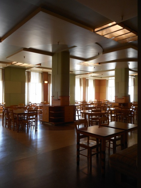 Adjacent to the ante-room and the lecture hall was this 1940s cafeteria.