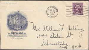 Here's a great envelope with the Alexandria on it.