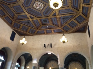 Here's the ceiling of the room.