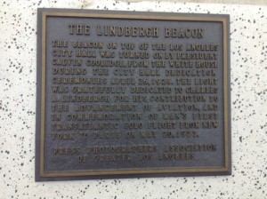A plaque from the observation deck.