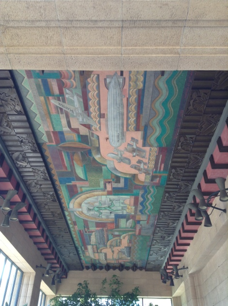 Overall view of the mural followed by sections of the mural.