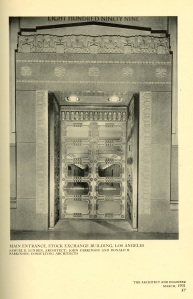 The inner doors of the stock exchange.