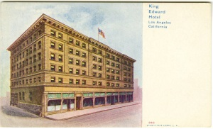 This image shows the west side of the building. It looks like this postcard is from the time when the building was new.