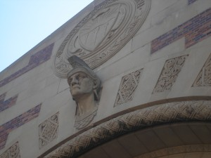 I've always liked this head on the physical education building.