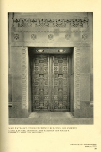 The original doors to the stock exchange.