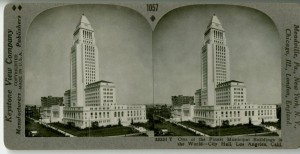 City Hall on a stereoptical card.