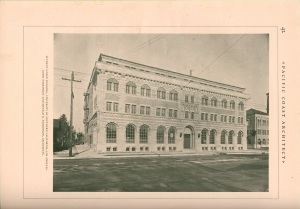 I found this image of the student union building in a copy of Pacific Coast Architect.