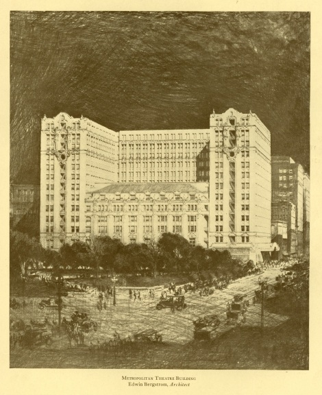A drawing of what the building originally would have looked like.
