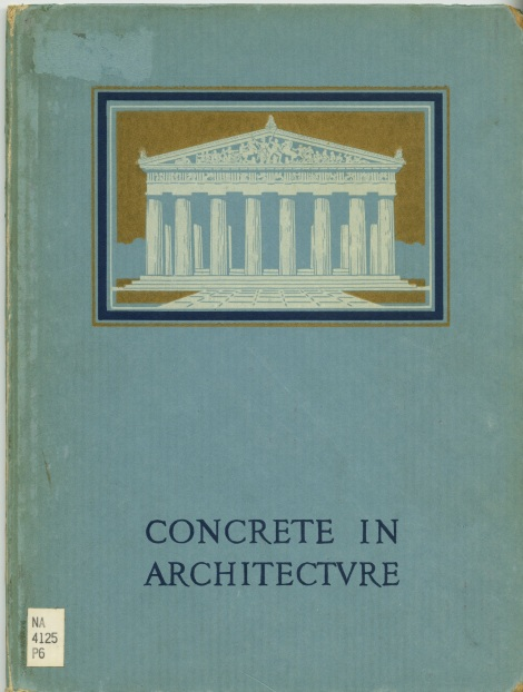 The images that follow are from an old book from 1927 title Concrete in Architecture.
