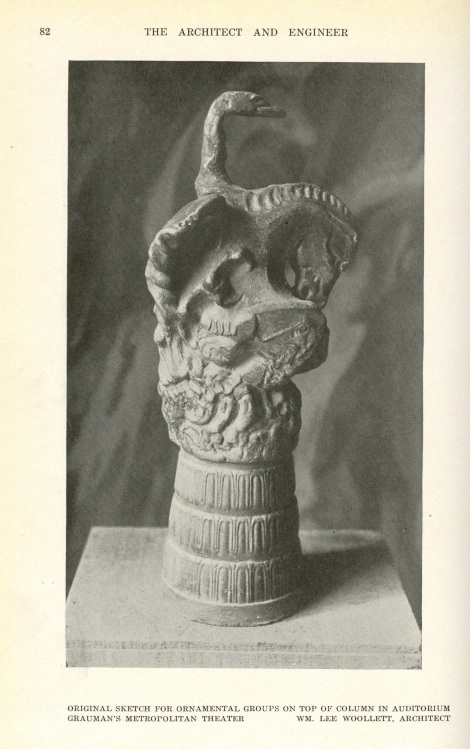 This is a model of what's on top of the column; the mythical griffith.