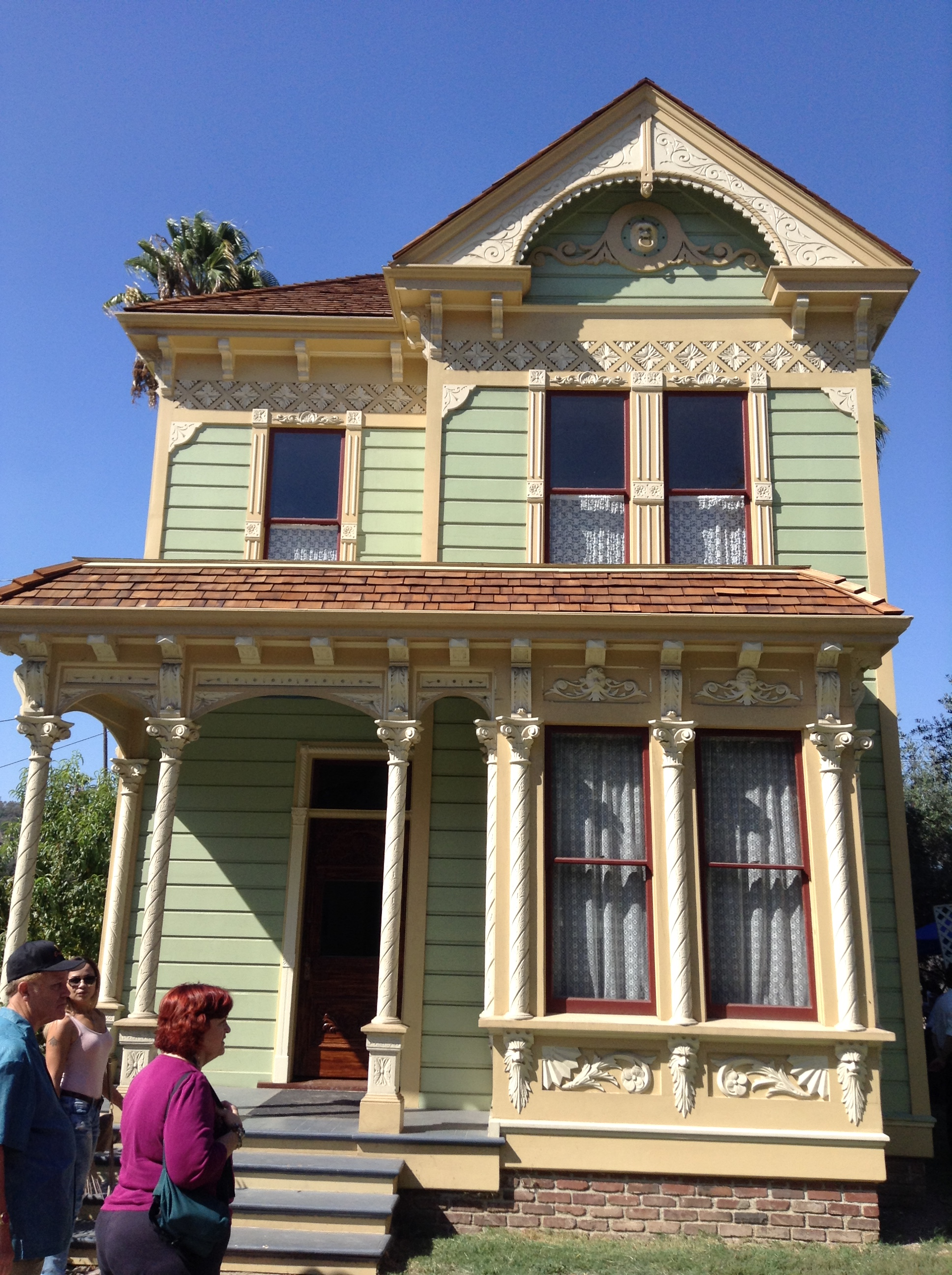 the john j ford house the exterior has been completely renovated but the interior needs major work when in the parlor if you squint your eyes to the