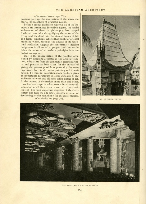 american architect chinese theater page 256