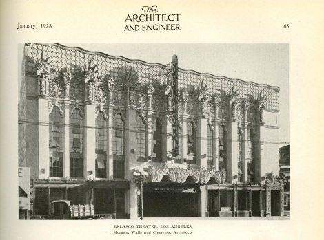 Another image of the Belasco but even closer. I find this theater very attractive in its original exterior configuration.