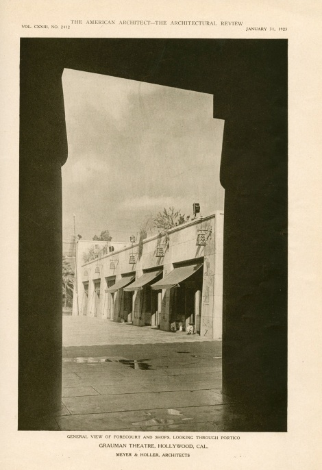 Egyptian theater american architect page five