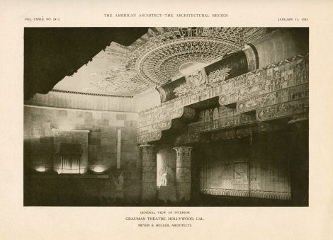 Egyptian theater american architect page seven